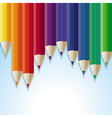 abstract background with rainbow pencils vector image vector image