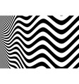 abstract black and white wavy pattern design vector image
