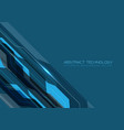 abstract blue gray line futuristic technology vector image vector image