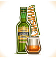 alcohol drink whiskey vector image