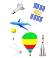 Astronautics and Space Icons vector image vector image