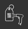 barcode reader scanning hang tag chalk icon vector image vector image