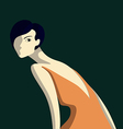 Beautiful elegance woman vector image