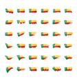 benin flag on a white vector image