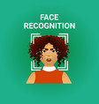 biometrics scanning face recognition of female vector image