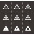 black danger icon set vector image vector image