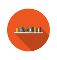 Book Shelve flat icon vector image vector image