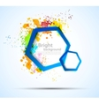 Bright colorful background with hexagons vector image vector image