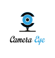 Camera eye vector image