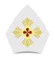 Catholic hat icon flat style vector image vector image