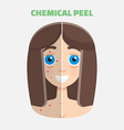 Chemical peel vector image
