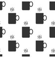 coffee cup flat icon seamless pattern tea cup vector image