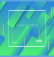 colorful geometric blue and green background vector image vector image