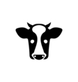 Cow Icon Flat vector image vector image