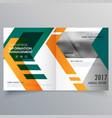 creative geometric bi fold brochure design vector image vector image