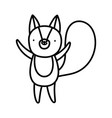 cute squirrel cartoon character on white vector image