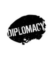 diplomacy rubber stamp vector image