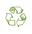 Doodle Recycle Symbol vector image vector image