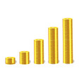 financial concept with stacks of golden vector image