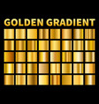golden gradients gold squares metal gloss vector image vector image