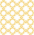 Golden seamless weave pattern vector image vector image