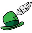 green hat vector image vector image
