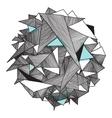 Grunge geometric pattern modern abstract vector image