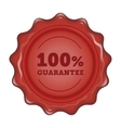 Guarantee wax stamp vector image