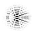 Halftone circle made of hexagons vector image