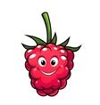 Happy cheeky cartoon raspberry vector image vector image