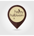 Happy Halloween mapping pin icon spider raven vector image vector image