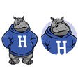 hippo mascot vector image vector image