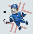 Hockey washer vector image