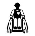 invalid man wheelchair icon simple style vector image vector image