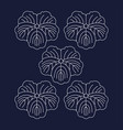 japanese pattern sashiko is a form decorative vector image vector image
