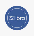 libra cryptocurrency flat icon vector image vector image