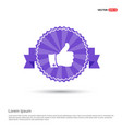 like icon - purple ribbon banner vector image