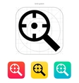 Magnifier crosshair icon vector image vector image