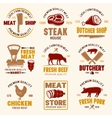 Meat Store Retro Style Emblems vector image