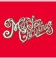 merry christmas logo vintage image vector image vector image