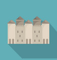 old castle icon flat style vector image vector image