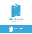 open book logo concept vector image