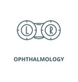 ophthalmology line icon linear concept vector image vector image
