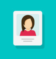 personal profile document with photo id or my vector image vector image