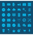 Programming Glyphs Website Icons vector image vector image
