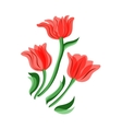 Red tulips set vector image