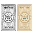 Retro Cards Set Rusty and clean style vector image vector image