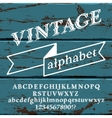 Retro Font on wood vector image vector image