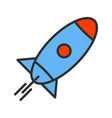 rocket line filled icon vector image vector image