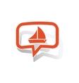 Sailing ship message sticker orange vector image